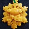 Snowman/snowflake beeswax ornament