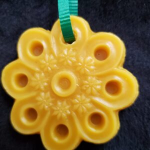poinsettia beeswax ornament